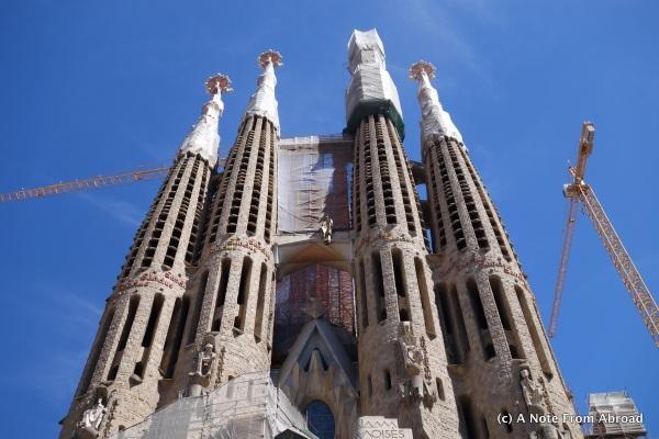 Sagrada Familia Basilica, still under construction