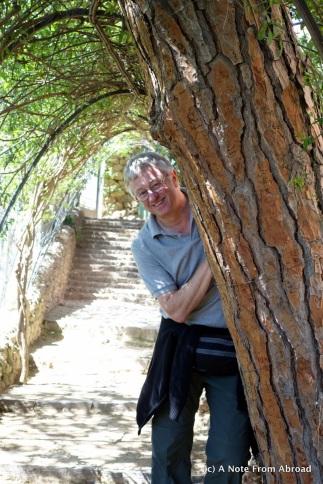 Tim under the arbor