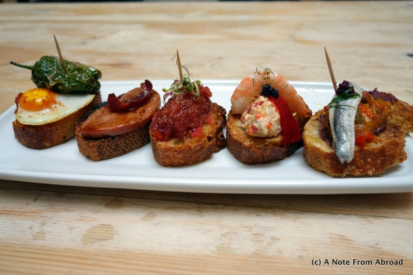 An assortment of tapas - Yummy!