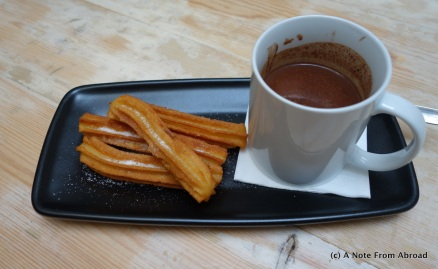 Churros and chocolate