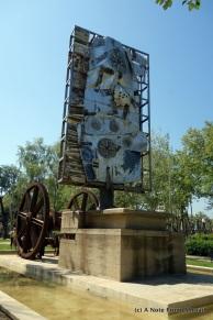 Random sculpture in park
