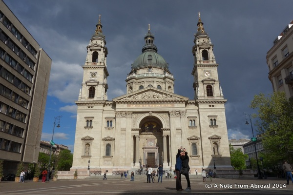 St. Stephens Basilica, just a couple minute walk from our hotel