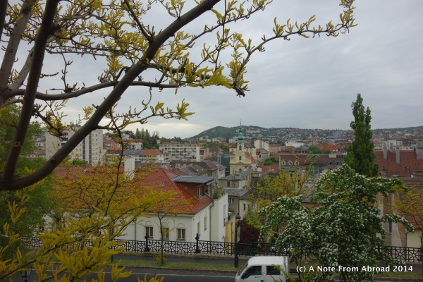 The Buda side of the Danube taken from Palace Hill