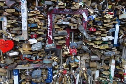 Love Locks in Deak Ter Park