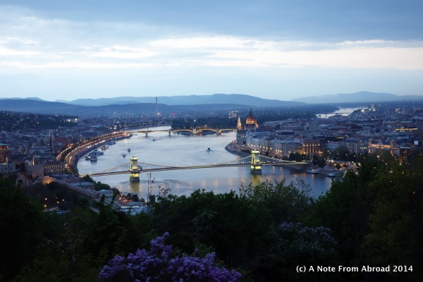 Evening view of the Danube from Citadel Hill