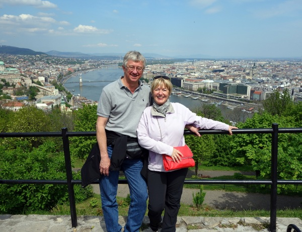 From the top of Citadel Hill with the Danube River behind us