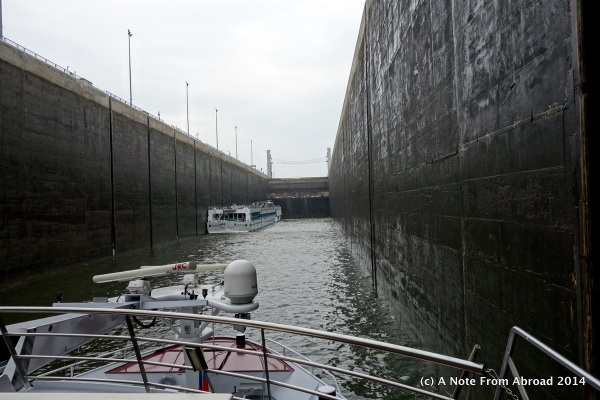 Entering the lock