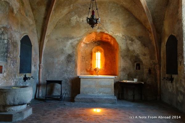 Small chapel above the boneyard