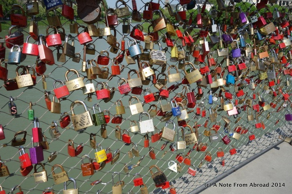 Another lock bridge, we thought about adding a lock for our anniversary but did not find one.