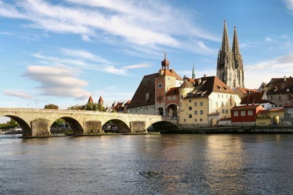 Regensburg, Germany - Old stone bridge (photo courtesy of Wikipedia)