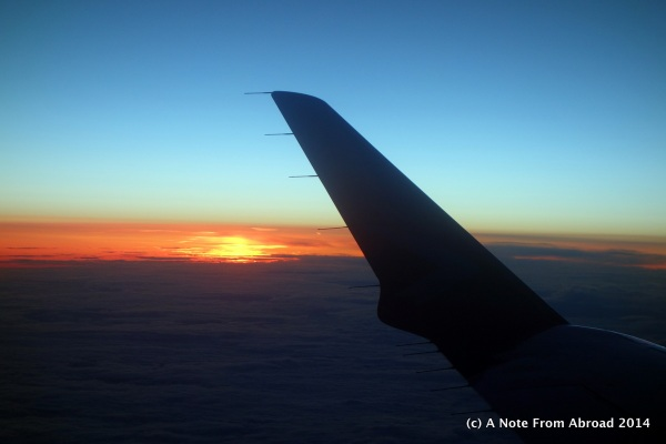 Beautiful sunset from 30,000 feet