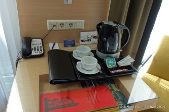 Coffee service in the room