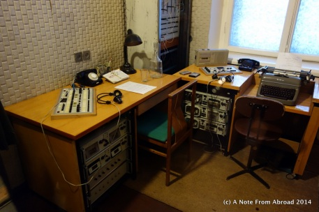 KGB spy monitoring station