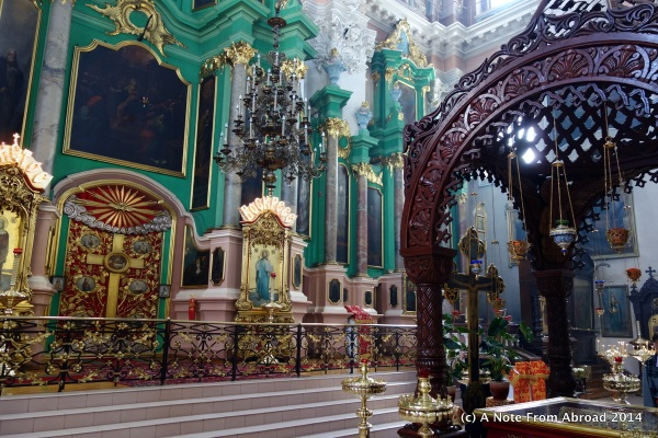 Church of the Holy Spirit Interior, and where relics are on display