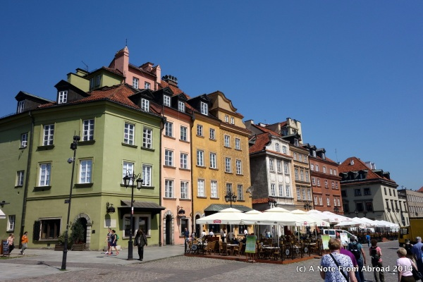Warsaw Old Town City Center