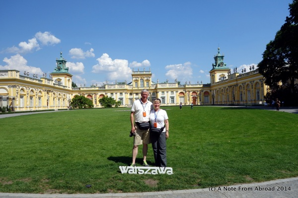 In front of Wilanow Palace