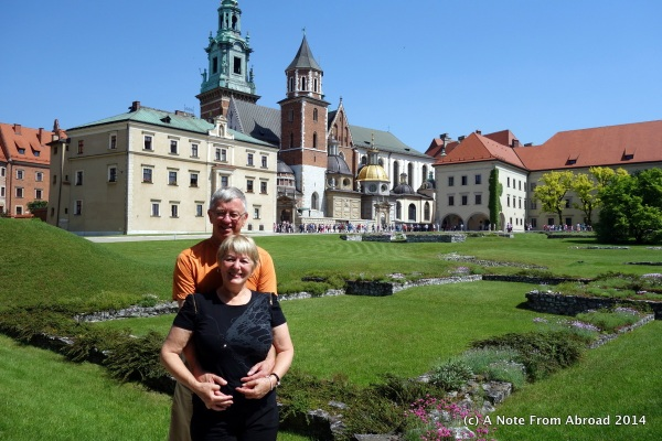 In front of Wawel Castle