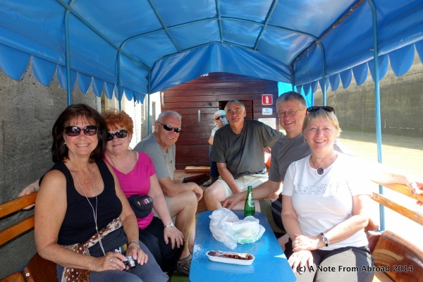 Left to right:  Karen, Jan, Dick, (Our captain Jan), Gary, Tim, Joanne