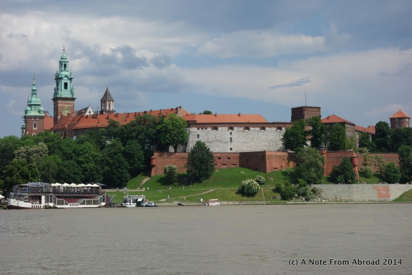View of the castle from the river bank