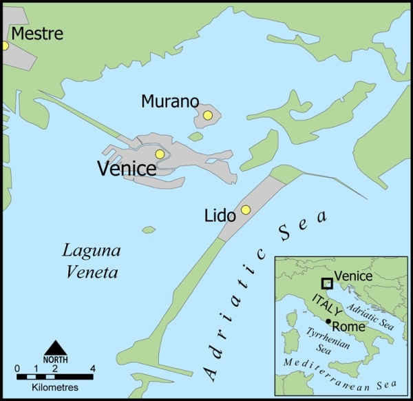 Venice islands map (courtesy of Wikipedia)