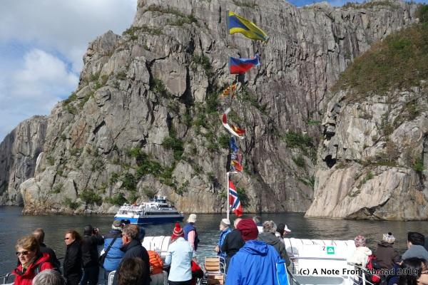 Steep rocky cliffs