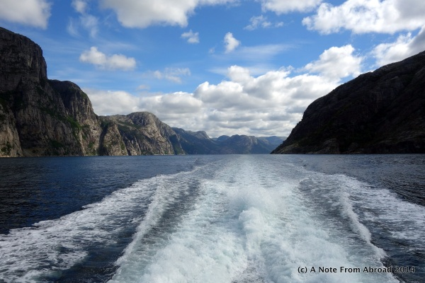 Entering the Fjord area