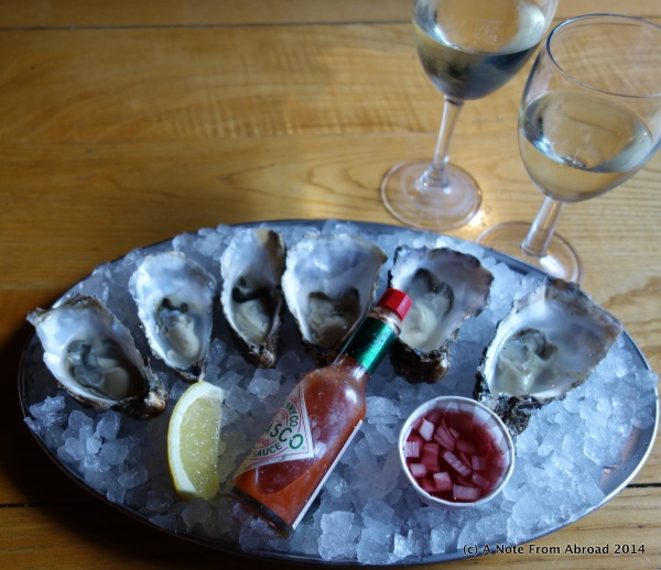 How the oysters were served