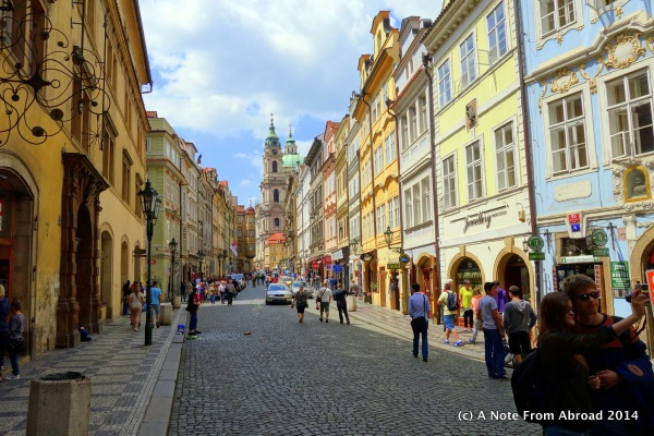 The beautiful streets of Prague