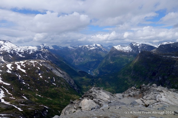 View of Geiranger Fjord from Mt. Dalsnibba