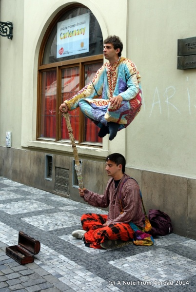 One of several levitation acts we saw.
