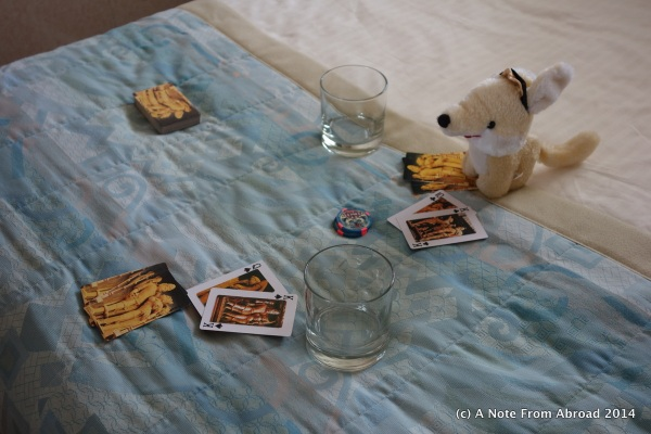 Poker game - don't bet against Gus - he has a Royal Flush