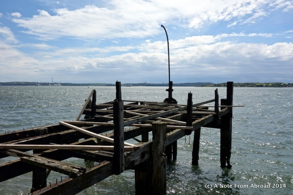 This is the remains of the actual pier that the last passengers to board the Titanic left from