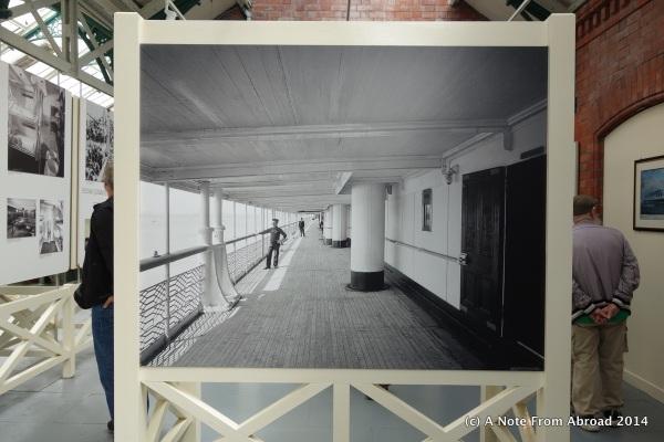 Promenade deck of the Titanic - photo from exhibit
