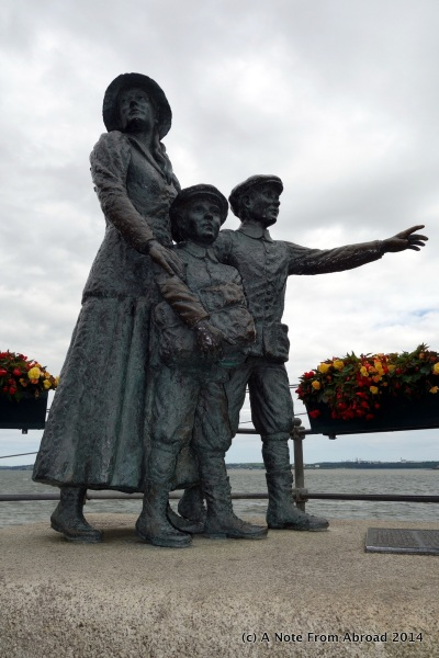 Annie Moore and her two young brothers