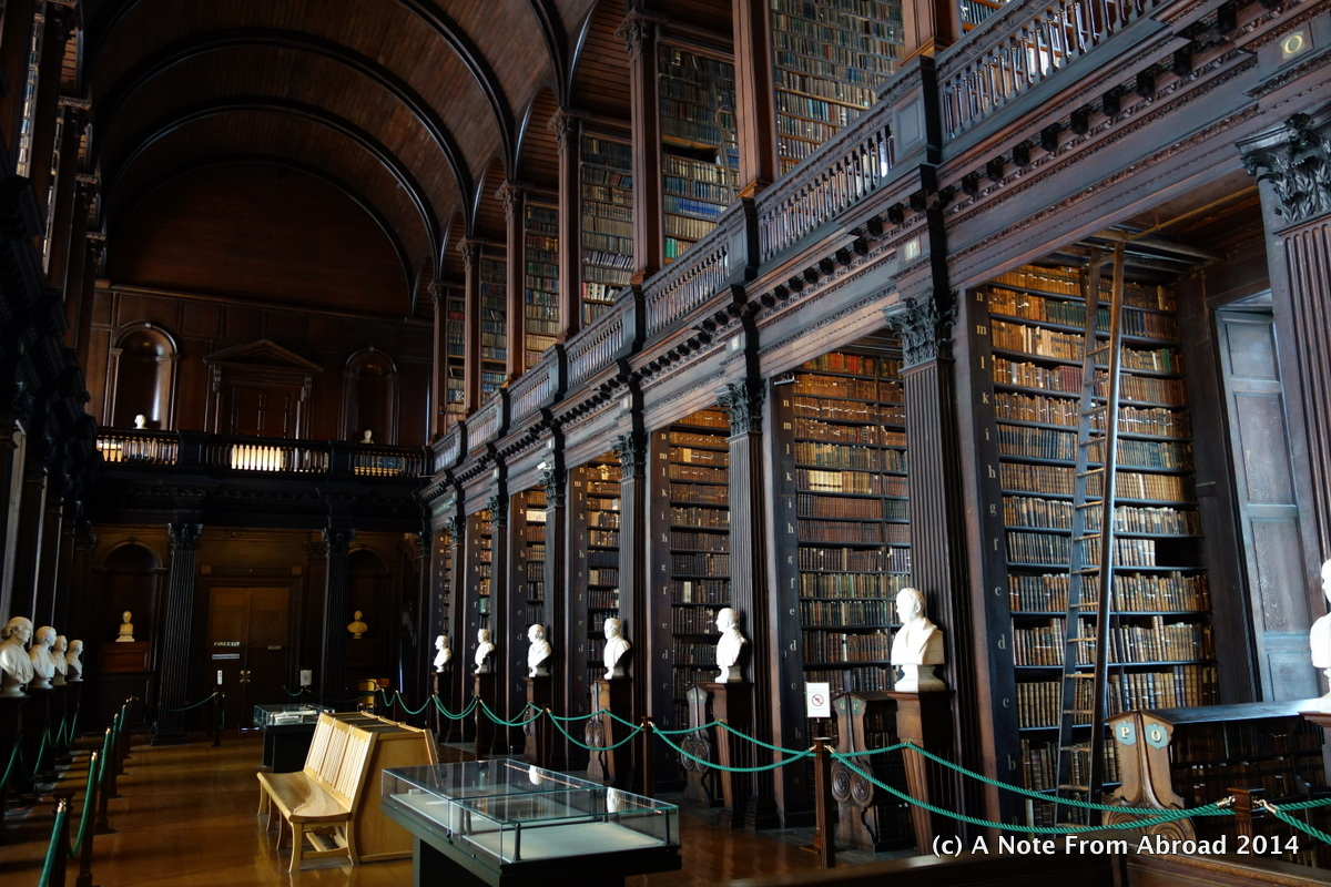 Long Foyer University : Dublin ireland trinity college getting connected again