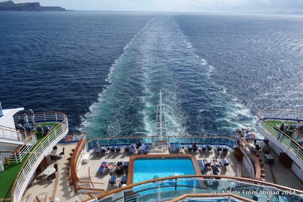 Another pool in the aft of the ship.  I think I counted five different pools and 10 hot tubs.