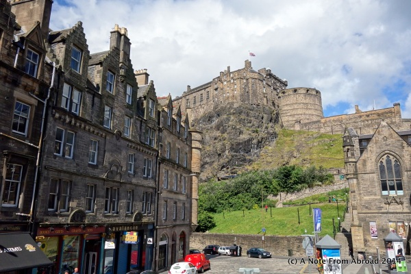 Edinburgh Castle sits high above the city