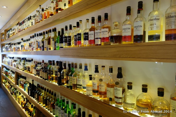 Row after row of Scotch.  I had no idea there were so many different kinds