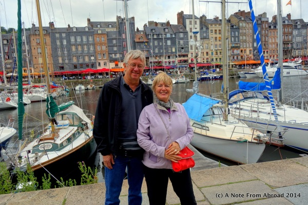 Tim and Joanne at Vieux Bassin, Honfleur, France