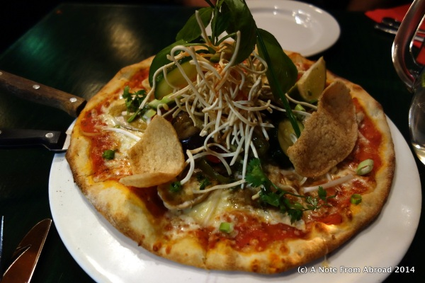 Thai pizza from Martin's