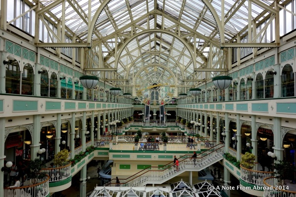 Shopping Mall in Dublin that reminded me of New Orleans
