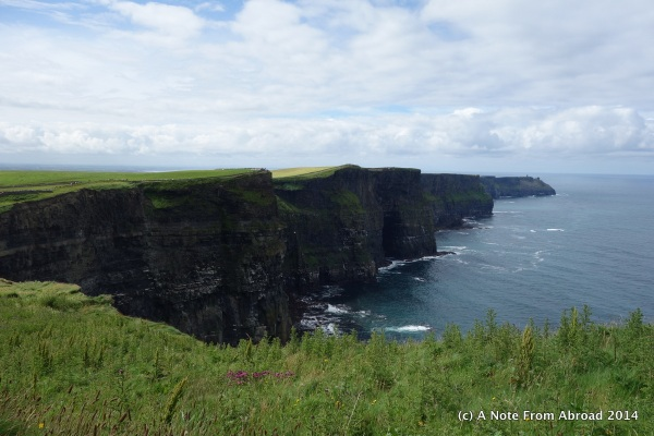 First view - Cliffs of Moher, facing South from viewing platform