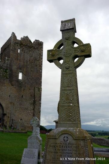 Celtic Cross in cemetery