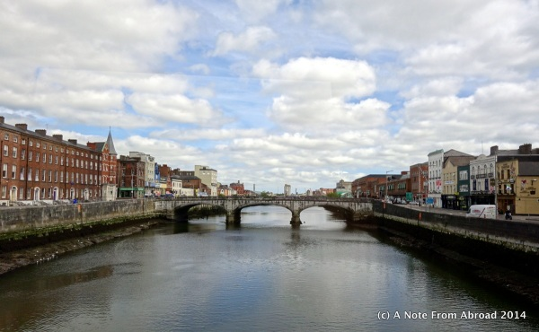The Shannon River in the city of Cork