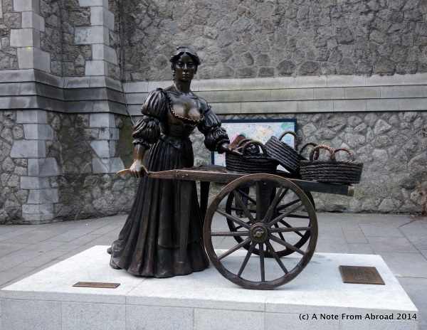 Mollie Malone Statue, in front of Old Stone Church