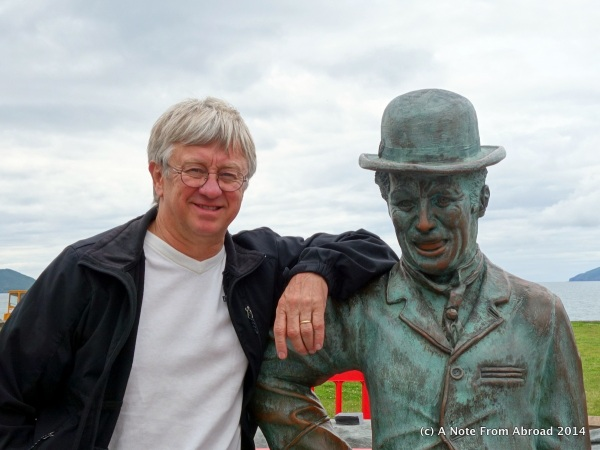 Tim with Charlie Chaplin in Waterville