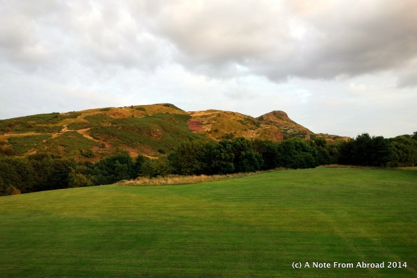 Holyrood Park - right across the street!