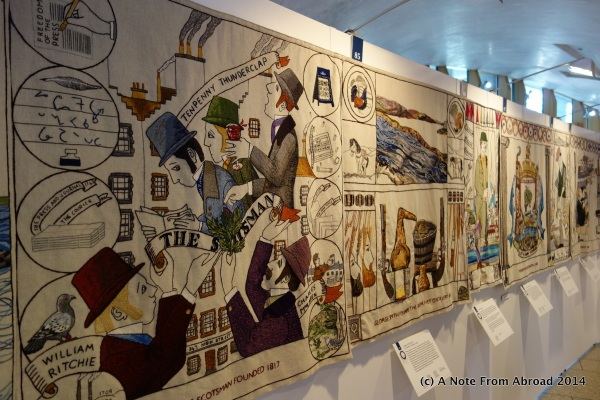 A few panels of the Scottish Tapestry