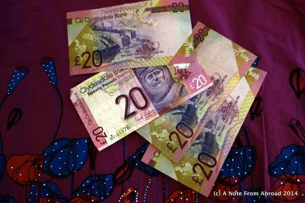 Colorful Scottish Pounds