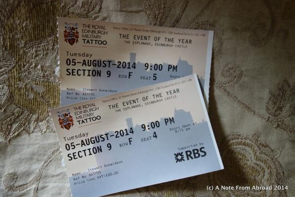 Tattoo Tickets
